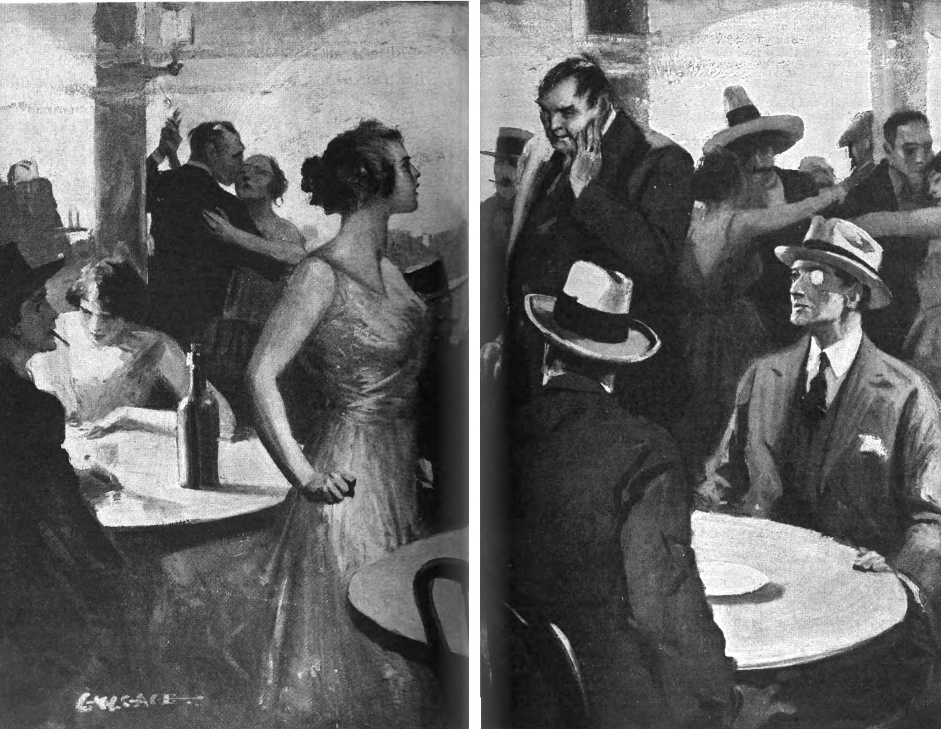 Illustration for the Jim Maitland story Colette