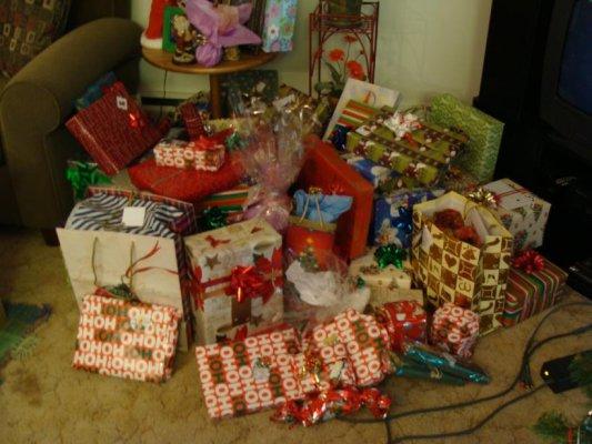 公婆家成堆的禮物